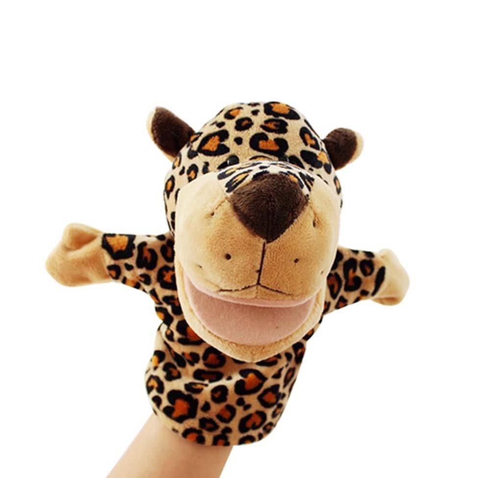 Nette Leopard-Puppets Fantastisches Spielzeug Handpuppen Tröster Spielzeug Blancho Bedding