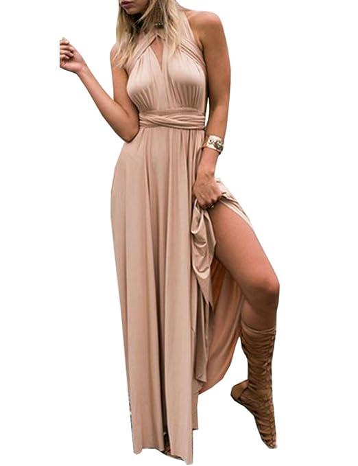 af4eaf3f4c43 EMMA Donne Lunga Vestito da Cocktail da Sera Elegante Damigella D'onore