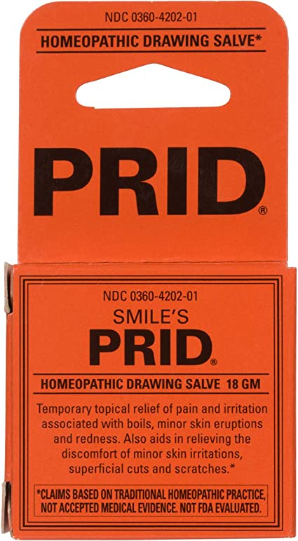Smiles PRID Drawing Salve by Hylands,Relief of Topical Pain /& Skin Irritations