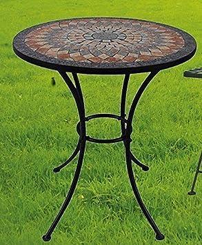 Table de jardin Sardena, mosaïque meuble en Méditerranée manche ...