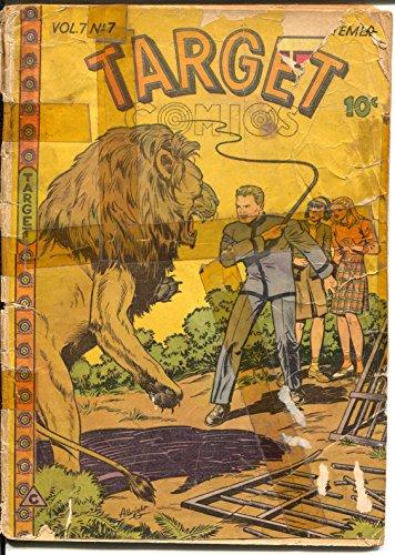 Target Vol. 7 #17 1946-Targeteers-Chameleon-Cadet-Lion attack-P/FR