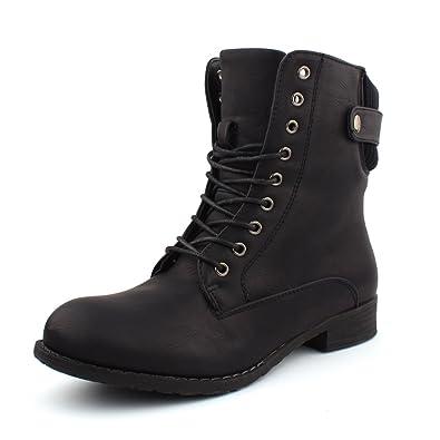 best boots Damen Stiefelette gefüttert Boots Schnürer Stiefel