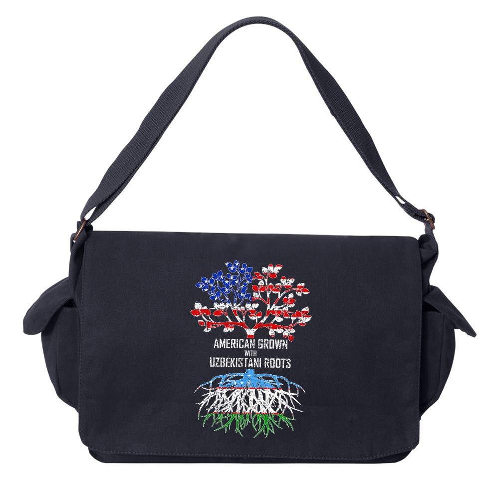 Tenacitee American Grown with Uzbekistani Roots Green Brushed Canvas Messenger Bag