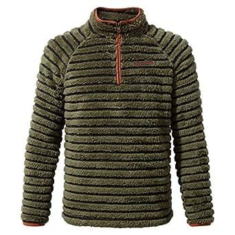 Craghoppers Childrens/Kids Appleby Half Zip Fleece Top (5-6 Years) (Dark Moss Combo)