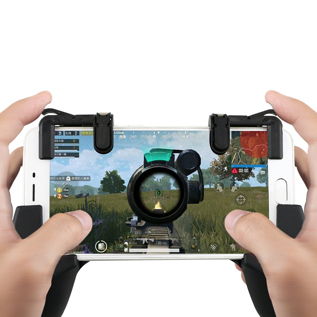 Magicfun Mobile Game controller/ Phone Game Gamepad Joystick Handle Grip Sensitive Shoot Per Controller Sparatutto Per Coltelli / Regole Di Trigger Di Gioco Survial Per IOS E Android