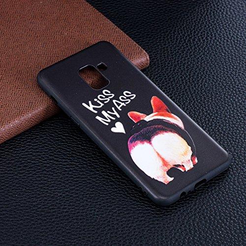 Beskyttende A8 Anti Lindring Slank 3d Gris 018 Tilfelle Mønster Tilfelle 2 Tpu Euwly Pluss Silikonveske Gel Samsung riper Støtfanger Malt Galaxy 5vqUnZ