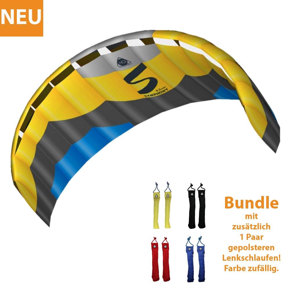HQ Lenkdrachen Lenkmatte Drachen Symphony Pro 2.2 Edge Bundle Kite