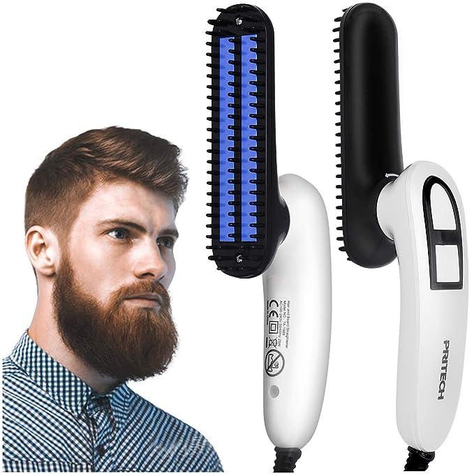 Amazon.com: Electric Beard Straightener Brush, Hair Straightening Beard Styling Comb, Detangling & Volumizing Beard Straightener Brush for Men, Portable Heating Beard Straightener with Anti-Scald Feature …: Health & Personal Care
