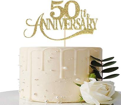 Amazon.com: Decoración para tarta con purpurina dorada para ...