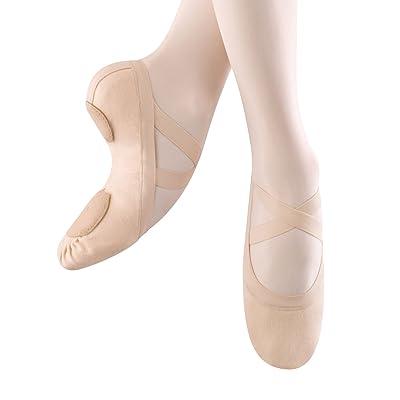 Bloch Dance Women's Synchrony Split Sole Stretch Canvas Ballet Slipper/Shoe, Pink, Medium   Ballet & Dance
