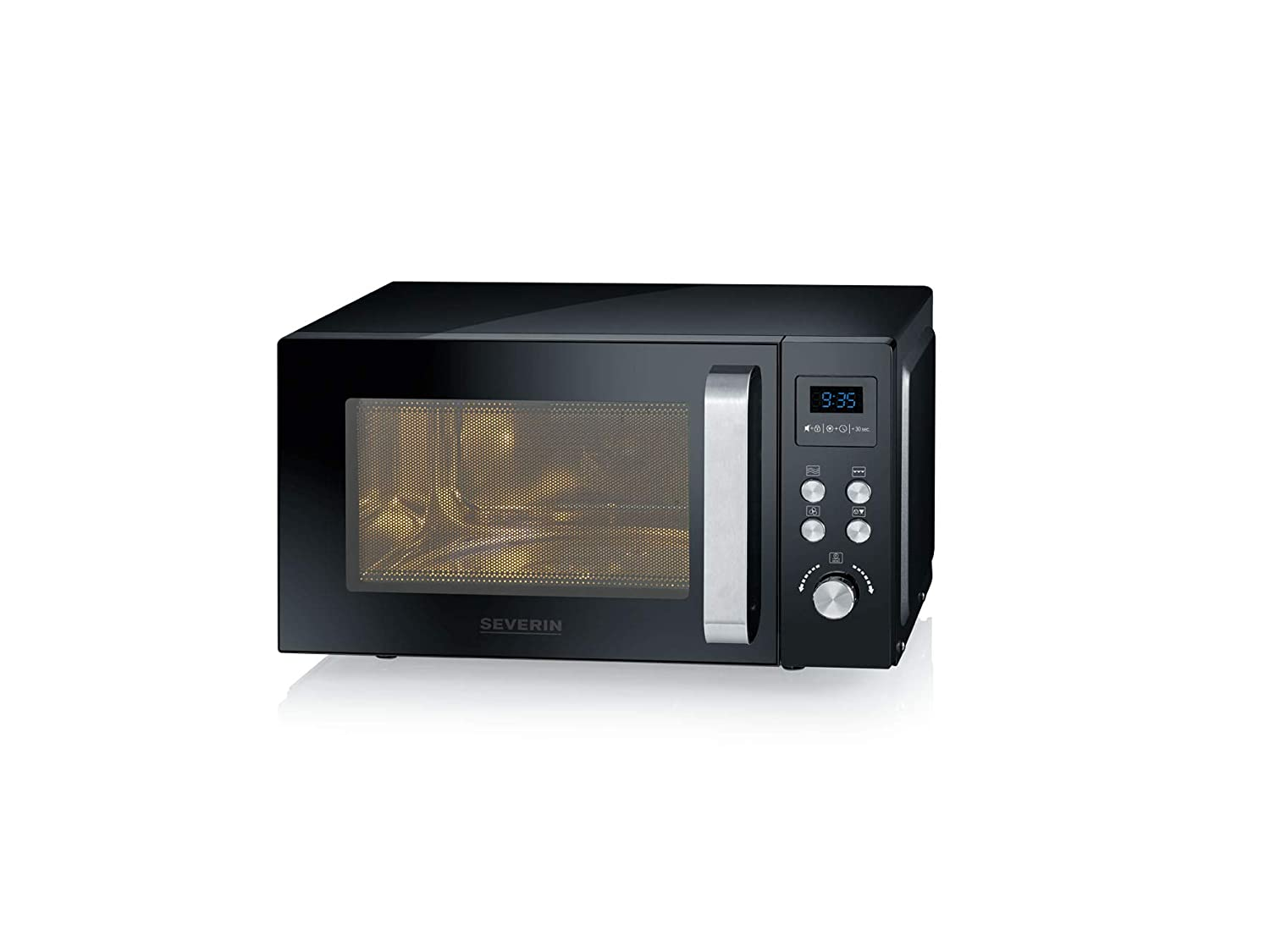 900 W Convection Grill Function 25 liters Black metal SEVERIN MW 7752 Microwave
