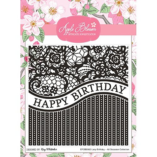 Apple Blossom All Occasion Embossing Folder Lacy Birthday