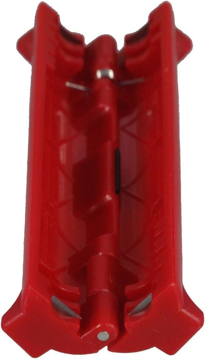 Pelacables para cables coaxiales compatible con todos los cables coaxiales habituales, color rojo