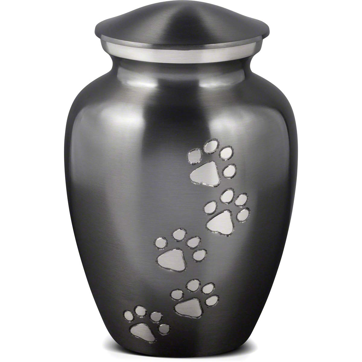 Best Friend Services Ottillie Paws Series Pet Urn Slate with Pewter Paws (X-Large) by Best Friend Services