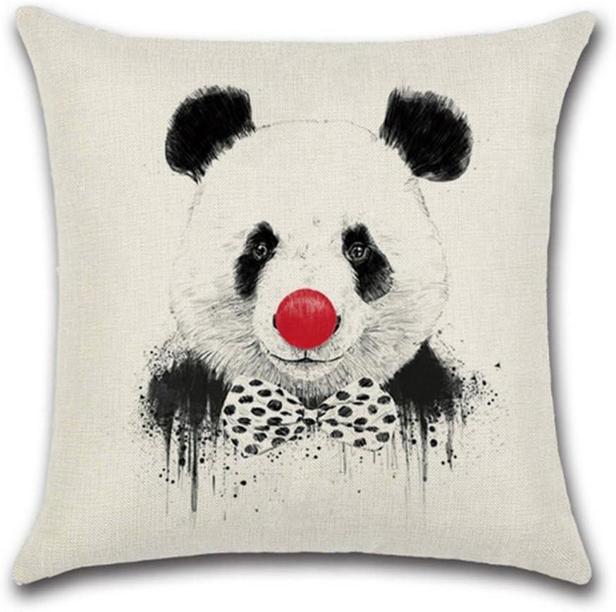 SWIDUUK Panda Imprim/é Taie doreiller en lin Housse de coussin Maison Canap/é de voiture Cafe D/écor Taille unique Lin 1