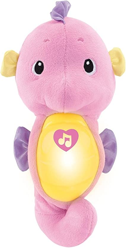 Fisher-Price Soothe and Glow Owl New-born Soft Cuddly Toy with Soothing Music,