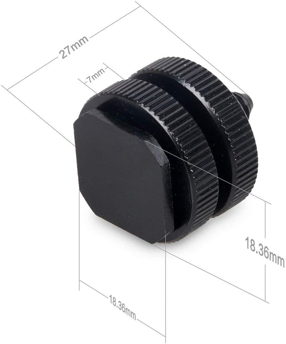 Flash Shoe Mount for DSLR Camera Rig-8 Packs LJ-ZLK-102503 WeTest 1//4 inch Hot Shoe Mount Adapter Tripod Screw