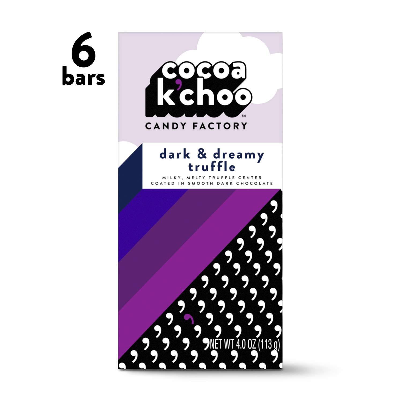 Cocoa K'Choo Dark Chocolate Dark & Dreamy Truffle 4 oz. bar (Pack of 6) by Cocoa K'Choo