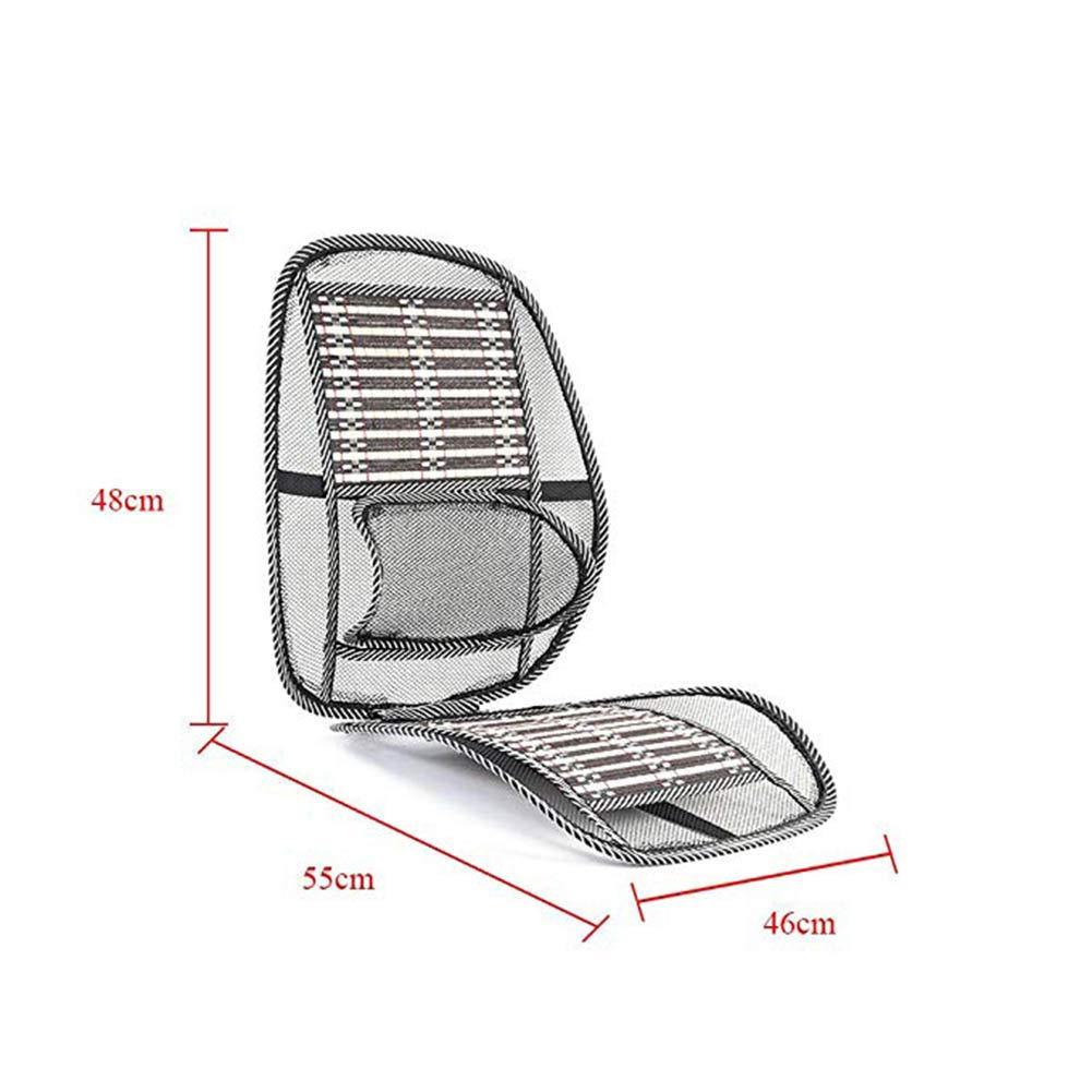 NAttnJf Sommer Atmungsaktive Bel/üftung Taille Massage Pad Autositzkissen K/ühlmatte