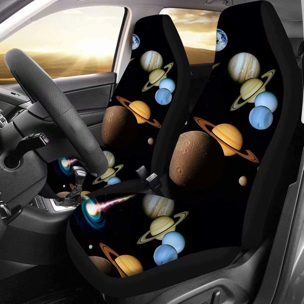 chaqlin Vehicle Seat Protector Bucket Seat Cover Multi Zebra Skin Car Seat Cover Full Set Saddle Blanket Protectors for Car SUV Auto 2pcs Set-Blue