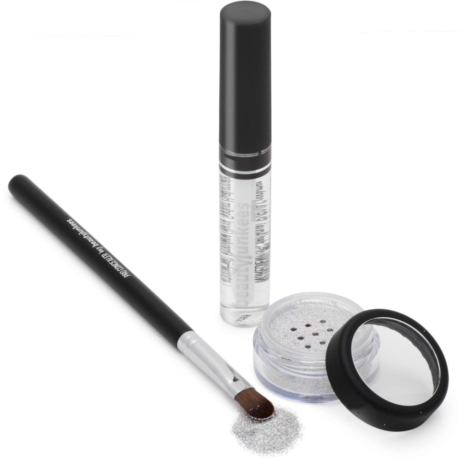 Bedazzle Holographic Cosmetic Grade Loose Glitter Makeup Kit with Brush and Glue, Extra Fine, Okay for Eyes, Face, Skin, All Over Body, No Parabens, No Gluten, No Cruelty