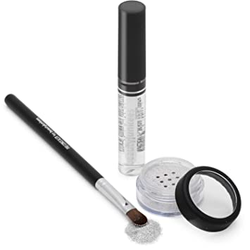 Bedazzle Holographic Cosmetic Grade Loose Glitter Makeup Kit with Brush and Glue, Extra Fine,