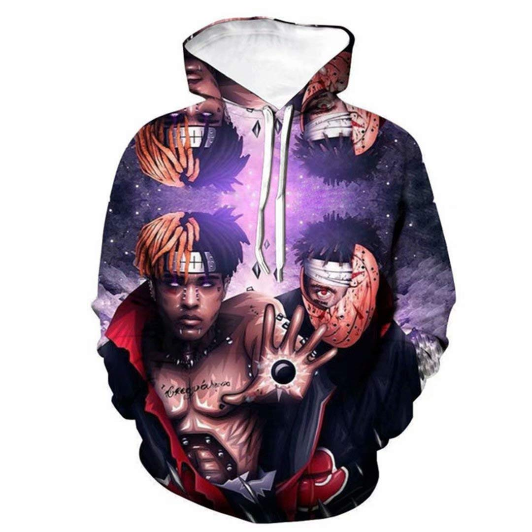 DHSPKN Xtentacion 3D Sweatshirt XXX Hoodie Li Peep Rapper Memorial Pullover Jacket Hiphop Sweater
