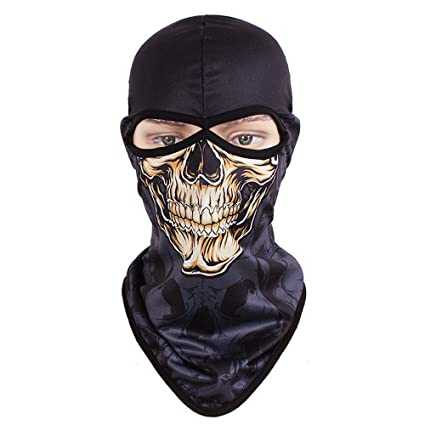 Quick Dry Bicycle Bike Breathable Windproof Animal Balaclava Hats Cartoon Skull Full Face Mask Neck Helmet Beanies Scarf Girl's Hats Apparel Accessories