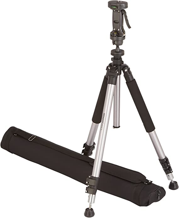 AmazonBasics Pistol Grip Camera Travel Tripod With Bag - 34.4 - 72.6 Inches