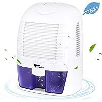 Amzdeal Luftentfeuchter Raumentfeuchter - Elektrisch Entfeuchter Leise Sicher und Effizient mit 1500ml Wassertank, leichter Lufttrockner gegen Feuchtigkeit und Schimmel, im Schlafzimmer und Badezimmer