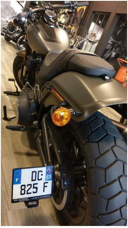 ACCESS DESIGN Support de Plaque lat/éral Noir Harley Davidson Fat Bob 114
