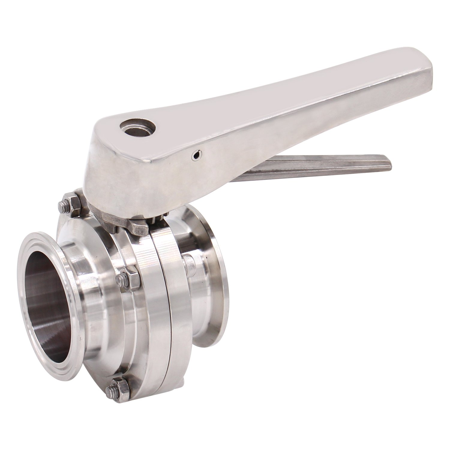Dernord Butterfly Valve with Trigger Handle Stainless Steel 304 Tri Clamp Clover (2 Inch Tri Clamp Butterfly Valve) by Dernord (Image #3)