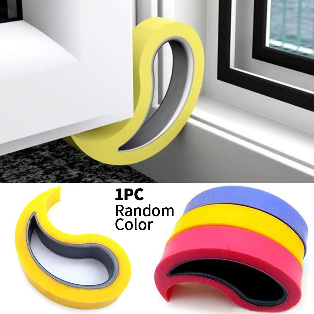 1PC Door Wedge Stopper, Baby Safety Door Stopper Heavy Duty Proofing Guard Fingers Child Products Protectors for Interior Bathroom, Kitchen, Children's Room Door Color Random Children' s Room Door Color Random SDYDAY