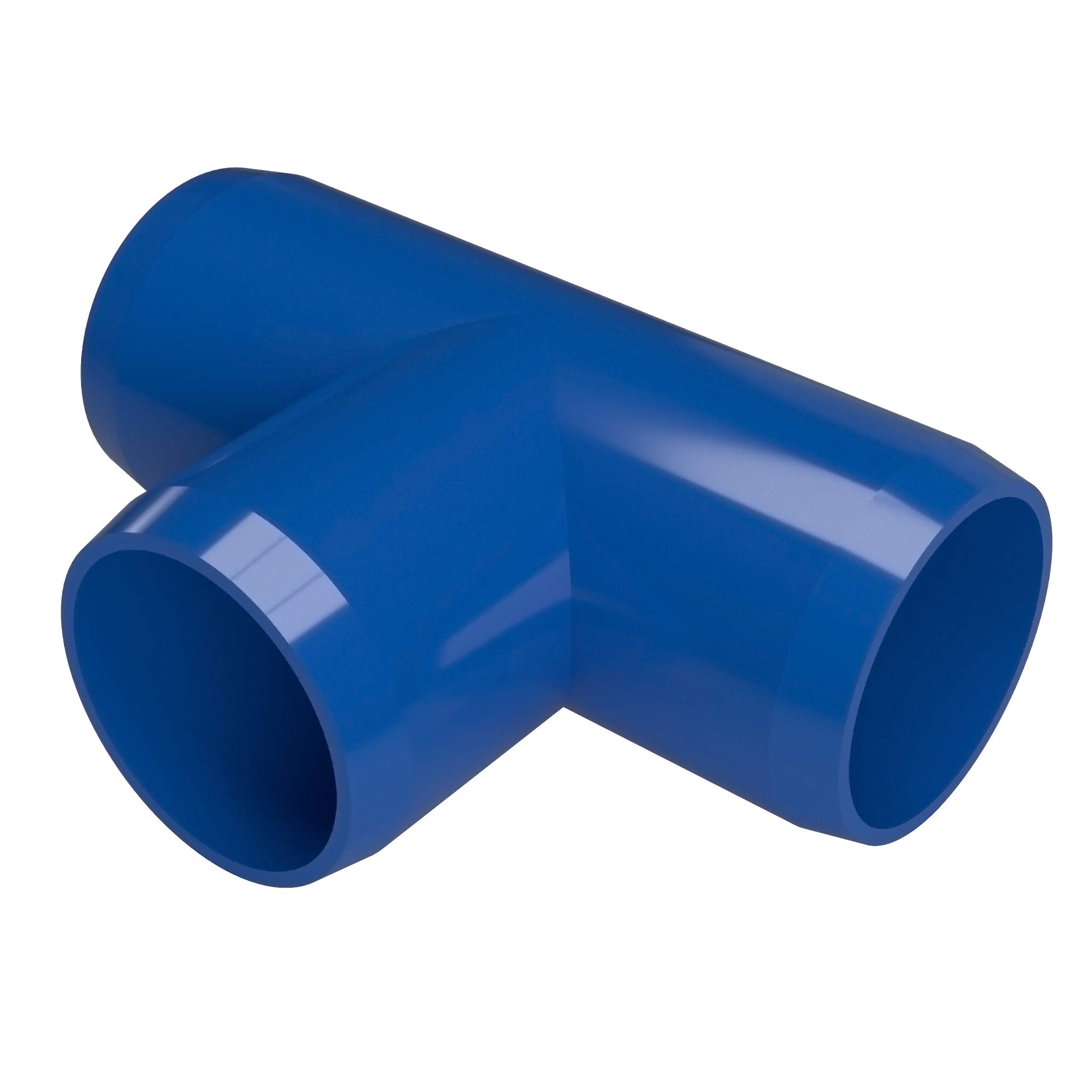 FORMUFIT F012TEE-BL-10 Tee PVC Fitting, Furniture Grade, 1/2'' Size, Blue (Pack of 10)