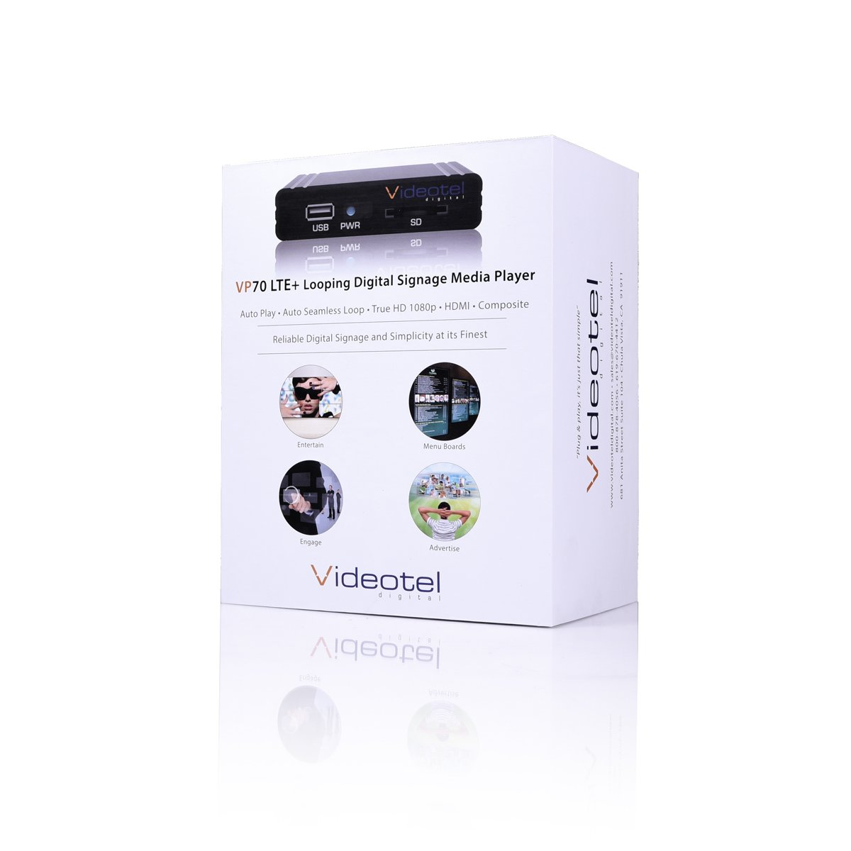 VP70 LTE (Plus) Premium Industrial Grade Digital Signage Media Player, Auto  Starts, Auto Plays & Auto Seamlessly Loops Video and Image Files, 24/7 for