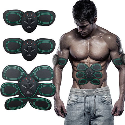 Maison-Market Abdominal Muscle Trainer,EMS Abs Toner Fitness Slimming Body Sculptor Muscle Trainer Butterfly ab Belt Gym Massager Pad Abdominal Muscle Exerciser Belts Fat Burner