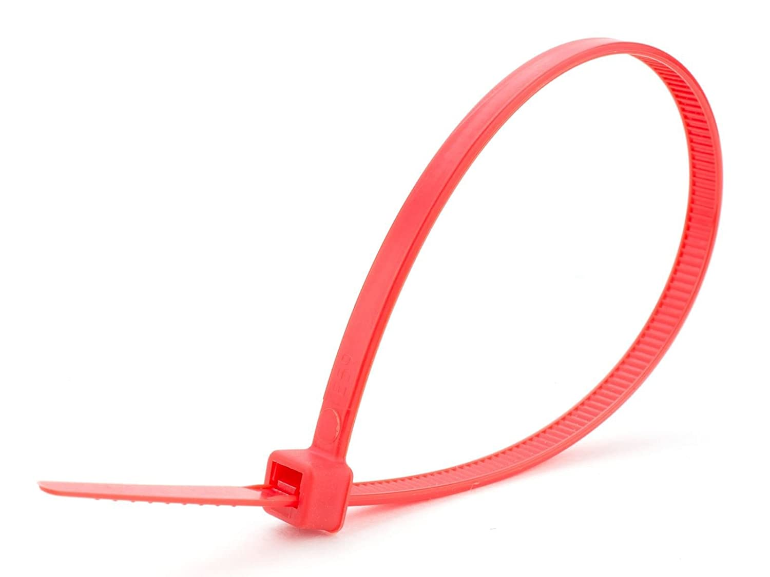 3.6mm x 140mm Red Zip Cable Tie Pack of 100