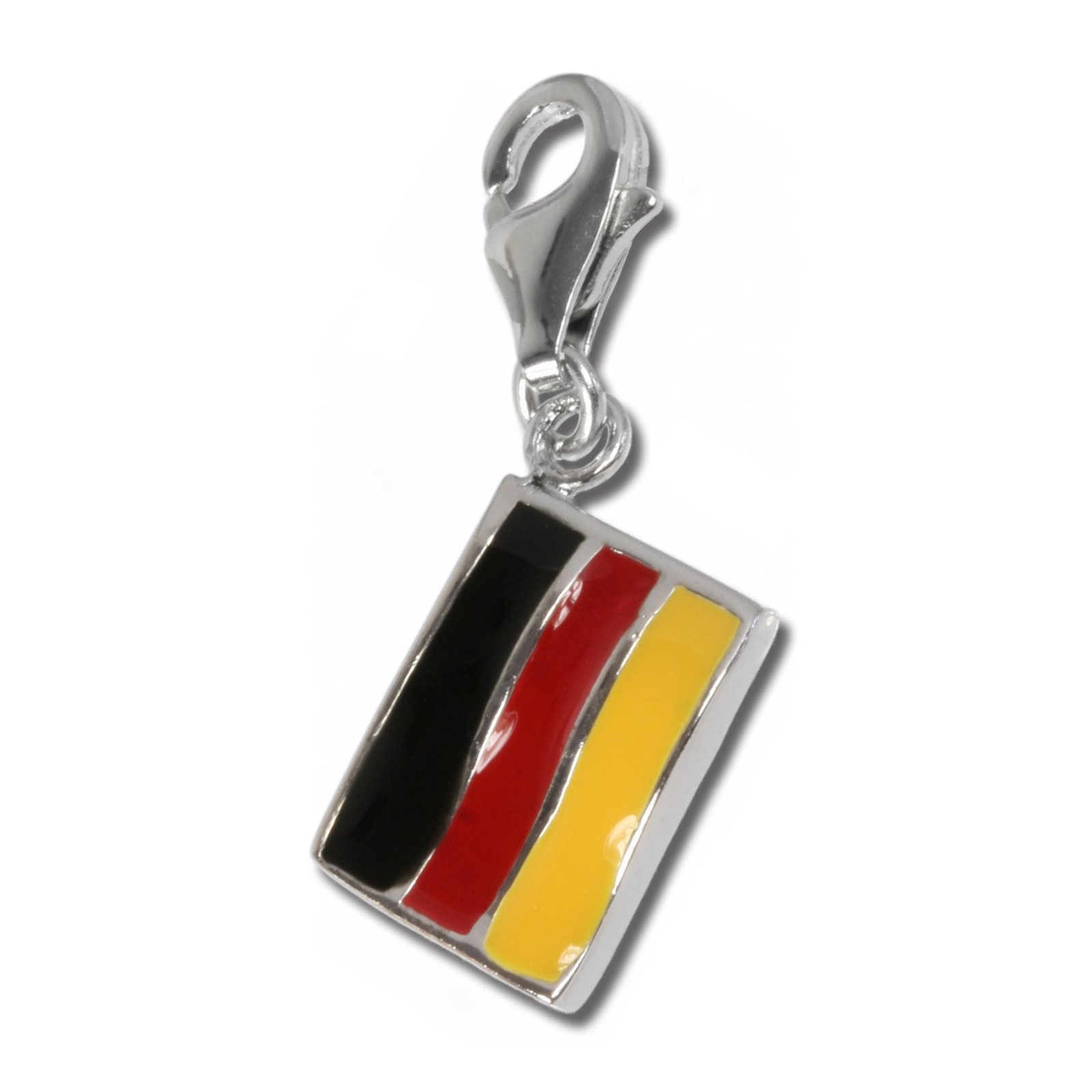 SilberDream Charm flag Germany, 925 Sterling Silver Charms Pendant with Lobster Clasp for Charms Bracelet, Necklace or Earring FC702