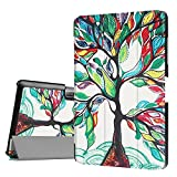 ProCase Acer Iconia One 10 B3-A30 DETUOSI ® Tablet Case,[Leather Stand]Flip Cover Folding Case Cover for Acer Iconia One 10 B3-A30 10Inch-Happy Tree