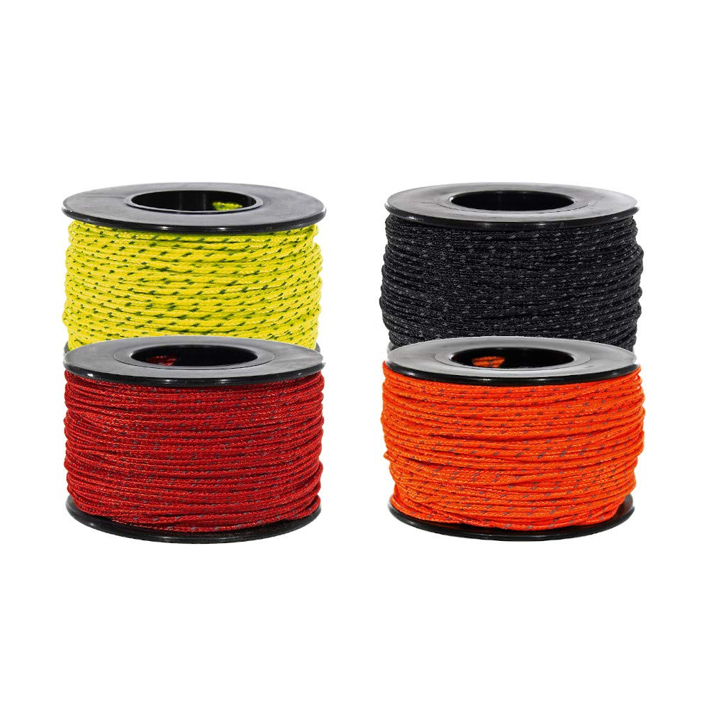 PARACORD PLANET Micro Cord Multi Packs - 100 lb. Tensile Strength Micro Cord for Crafting and Utility Purposes - Packs Contain Varying Number of Micro Cord Spools Based on Selection (Reflective) by PARACORD PLANET