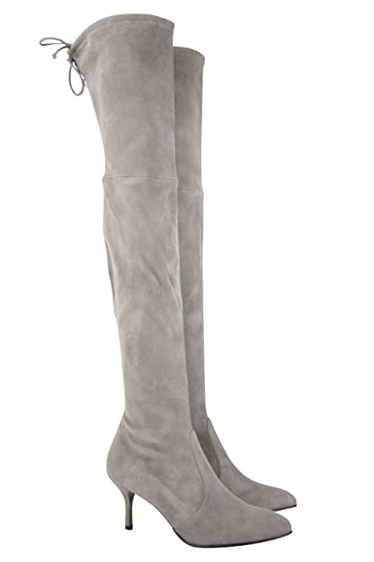 2a88216fbc6 Amazon.com  Stuart Weitzman Women s Solid Tiemodel Taupe Suede Over-The-Knee  Boot  Shoes