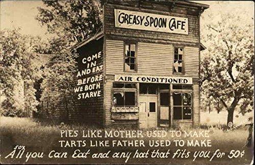 Cafe Postcard (Vintage Advertising Postcard: Greasy Spoon Cafe Advertising)