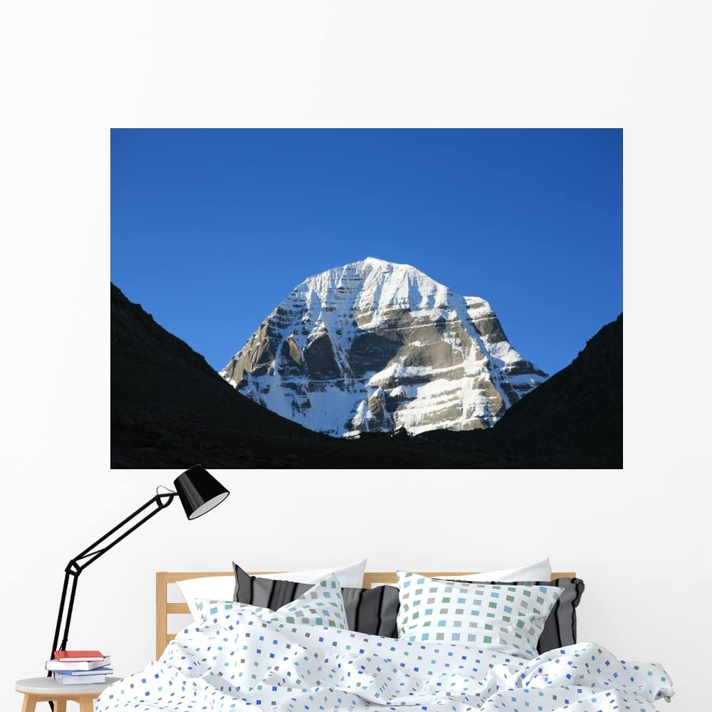B004VV0OKK Wallmonkeys Kailash Mountain Wall Decal Peel and Stick Graphic WM237747 (60 in W x 40 in H) 61sZUvEM3PL