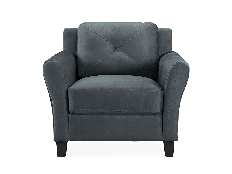Amazon.com: Pearington Merango Microfiber Living Room 1 Seat Chair/Sofa, Dark Gray: Kitchen & Dining