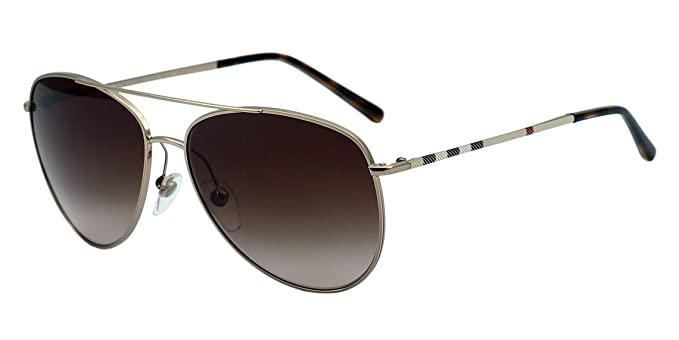 8c388a9447249 Image Unavailable. Image not available for. Colour  Burberry Aviator  Sunglasses (Gold) (Be 3072 ...