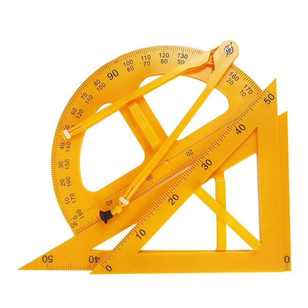 Yaohai Teaching Protractor, Plastic Measuring Square 50CM Semi-Circular Measuring Angle Chalk Compass Triangle Teaching Aid by Yaohai