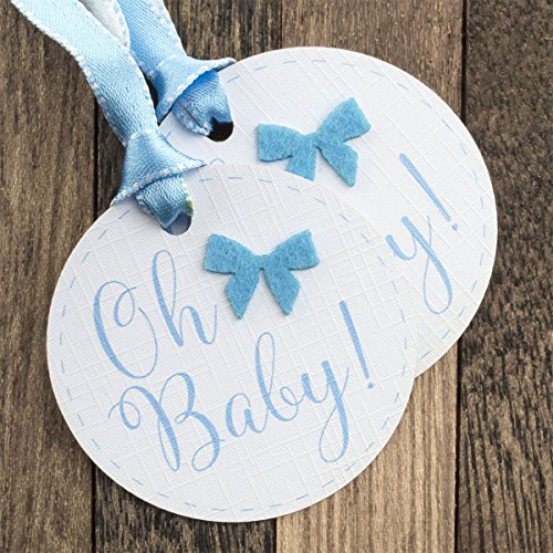 Summer-Ray 50pcs Blue Oh Baby Baby Shower Favor Gift (New Baby Tags)