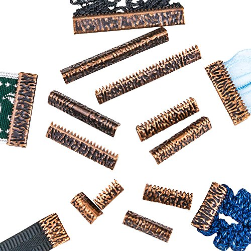 Twilight's Fancy - Artisan Series, No Loop Ribbon Clamp End Crimps in Assorted Sizes (Antique Copper)