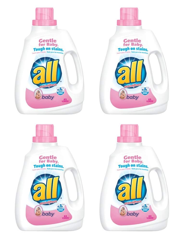all Liquid Laundry Detergent, Baby - 94.5 oz (Pack of 4)