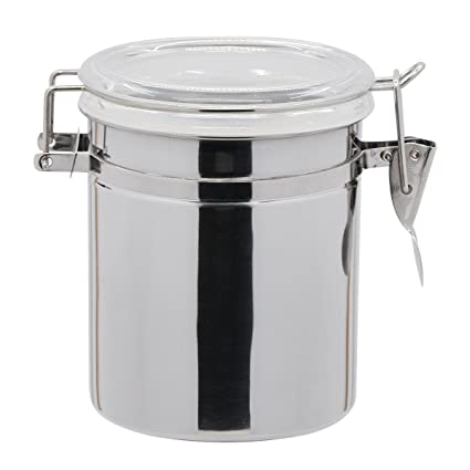 6cc8d3a0f Saim Cereal Container Stainless steel with Clear Silicone Lid and Locking  Clamp Airtight Watertight Cereal Keeper